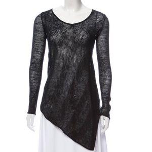 Helmut Lang Asymmetrical Scoop Neck Summer Knit